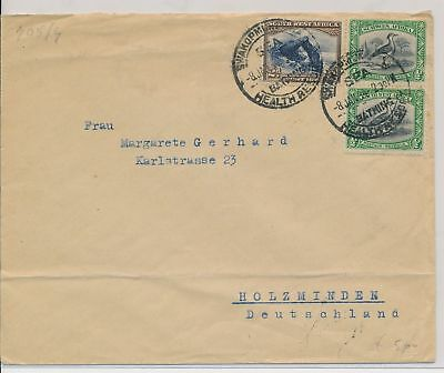LI59893 South West Africa 1934 fine cover with nice cancel used