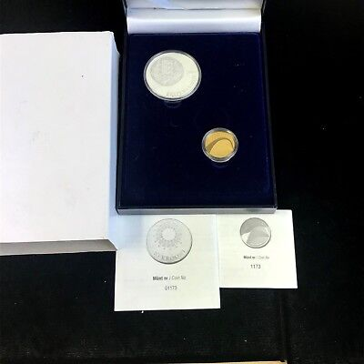 2009 Estonia Gold Coin 100 Krooni Proof Like and 10 Krooni Proof Silver Coin