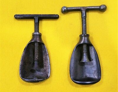 Two Very Nice Different Vintage Heavy Duty Metal Screw Type Nut Cracker Tools