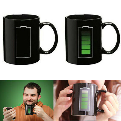 Magic Battery Coffee Tea Milk Hot Cold Heat Sensitive Color-Changing Mug Cup