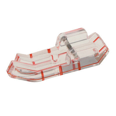 Clear View Guide Foot Straight Stitch Snap on Sewing Machine Presser Foot