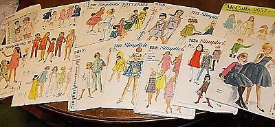 lot 16 vintage sewing patterns girls boy sz 8 butterick McCall's Simplicity 60s