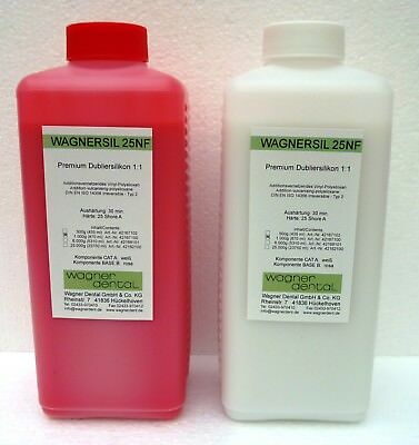 Silicone Rubber Duplicating Wagnersil 25nf 25 Shore 1:1 Impression Material 2 Kg