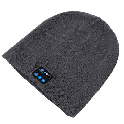 Gray Wireless Bluetooth Beanie Cap Smart Cap with Bluetooth Stereo Earpho Q8F3