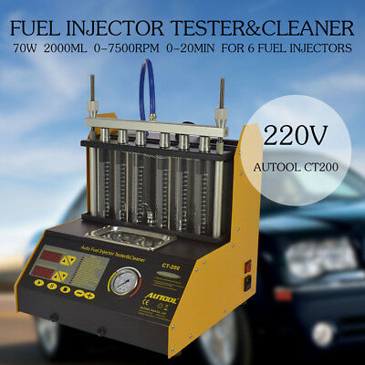 CT200 Vehicle Fuel Injector Cleaner Tester Gasoline Ultrasonic Motorcycle AUTOOL