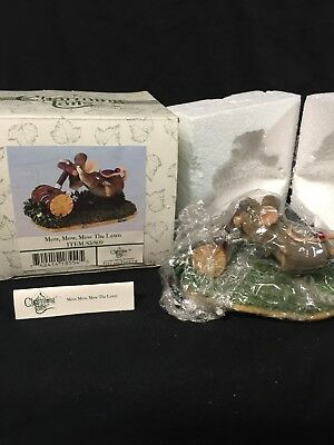"Charming Tails ""Mow,Mow,Mow the Lawn"" Fitz and Floyd 83/809 SIGNED by Dean Griff"