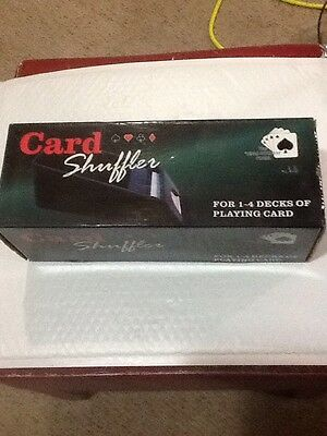 Playing Card Dealer Shoe Holds 1-4 Decks Looks Like NOS Poker Blackjack