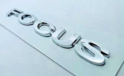 Ford Focus MK2 Chrome Letters Emblem Logo Badge Rear Boot Trunk with Sticker
