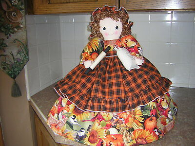 ~~TOASTER COVER DOLL~~Fits a 4 slice toaster ~~FALL DESIGN~~Handmade~~