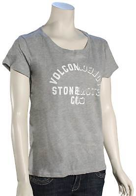Volcom Easy Babe Rad Women's T-Shirt - Heather Grey - New