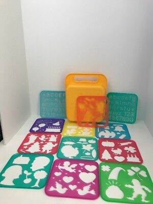Tupperware Tuppertoys Stencils Case animal shapes letters holidays