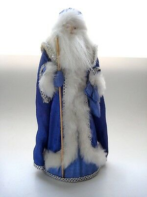 Russian Father Christmas Santa in Blue Robe @9""
