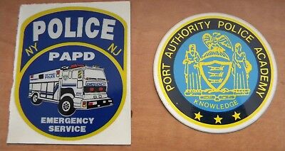 "Port Authority Police Stickers PAPD  ..new style ""Academy & Emergency Service"""