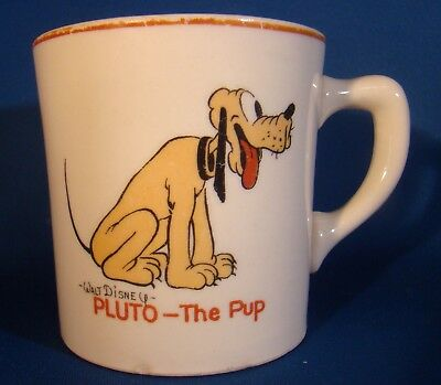 Walt Disney Ent. 1935 Salem China Co. PATRIOT CHINA PLUTO THE PUP MUG!