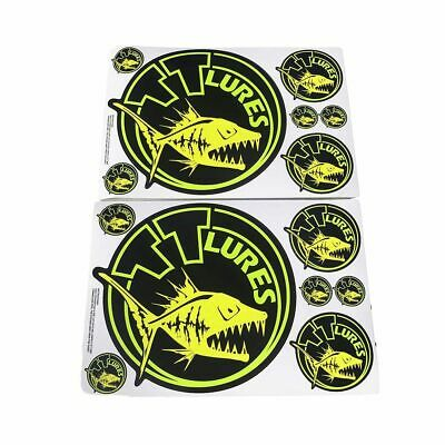 TT Lures Team TT Sticker Pack - 14 Assorted Fishing Stickers - Boat Decals