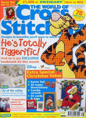 The World Of Cross Stitching Magazine- issue 66- CHRISTMAS = 2002= with kit