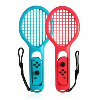 2 x Tennis Racket for Nintendo Switch Joy-Con Controller Accessories Tennis Game