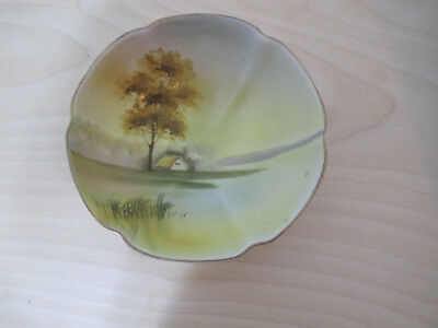 Vintage Nippon China Bowl, Country Scene