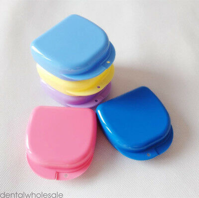 50 Dental Appliance Mouthguard Container Ortho Retainer Denture Storage Case Box