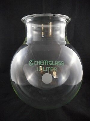 CHEMGLASS Glass 12000mL Reaction Vessel Large Scale 150mm Schott O-Ring Flange