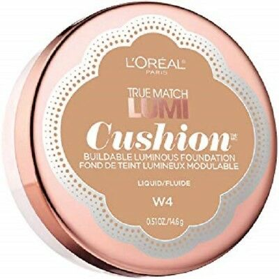 LOREAL True Match Lumi Cushion Luminous Buildable Foundation NATURAL BEIGE W4