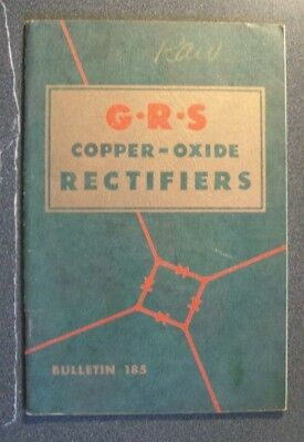 Grs General Railway Signal Co Sc Book Copper-Oxide Rectifiers 1950   Photos
