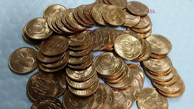 Great Britain 50 Pieces 1965 Uncirculated Half Penny, Km #896, Free Shipping