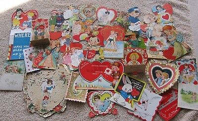 33 Vintage 1930's Valentines~Honeycomb~Stand Up~Pop Out~Die-Cut~Nice Variety!!