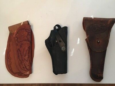 Vintage Antique Leather Gun and Knife Holsters