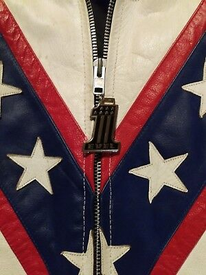 Evel Knievel Stainless Steel Medallion Zipper Pull