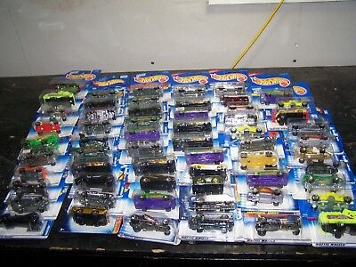 Lot of 60 Vintage Hot Wheels Die Cast Vehicles From 1990's - Lots of Blue Cards