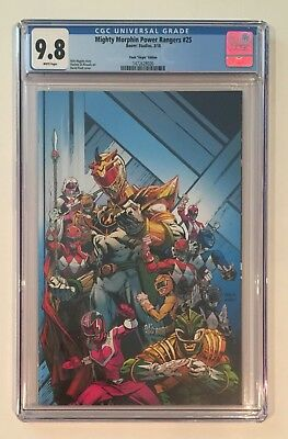 MIGHTY MORPHIN POWER RANGERS 25 • CGC 9.8 • FINCH VIRGIN VARIANT Shattered Grid