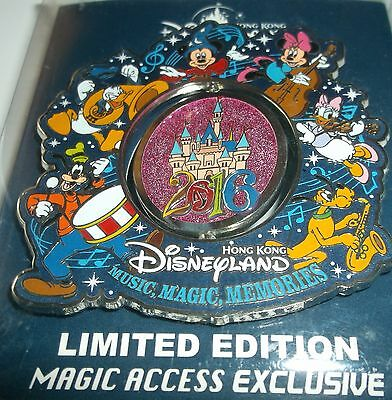 HKDL Hong Kong Magic Access Exclusive 2016 Spinner Jumbo LE 500 Pin