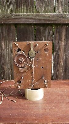 early antique american wooden works shelf clock movement parts repairs