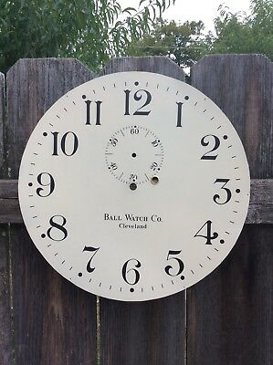 Hand Painted Replacement  Clock  Dial, by Ball Watch Co. for a Seth Thomas No.3?
