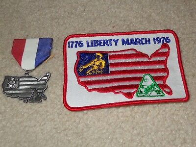 Boy Scout BSA Liberty March Revolutionary War Pennsylvania Trail Medal and Patch