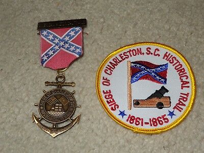 Boy Scout BSA Siege Charleston South Carolina Civil War Trail Medal and Patch