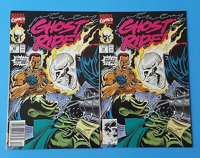Ghost Rider V2 #20 Direct and Newsstand Editions lot Marvel Comics 1991