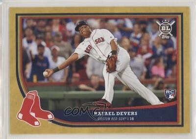 2018 Topps Big League Gold 250 Rafael Devers Boston Red Sox Rookie Baseball Card