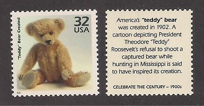 Antique 1902 Teddy Bear - U.s. Postage Stamp - Mint Condition