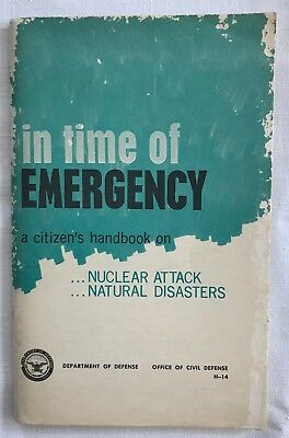 In Time of Emergency Citizens Handbook Nuclear Attack Dept of Defense 1970