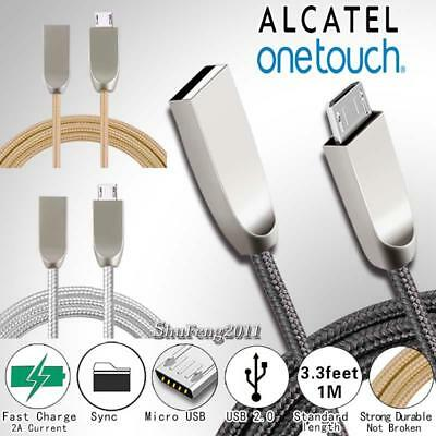 For Alcatel - 1M Micro USB Fast Charging Phone Data Sync Charger Braided Cable