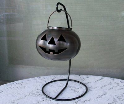 NEW * Lamplight Farms Hanging Pumpkin Oil Lantern Lamp * 12""