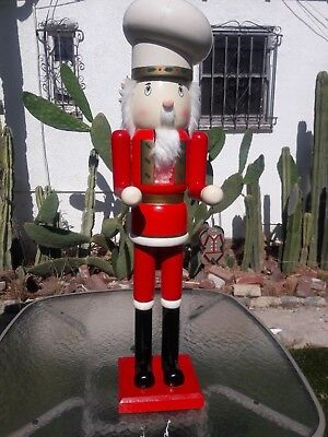 wooden nutcracker soldier handcrafted 36 inches
