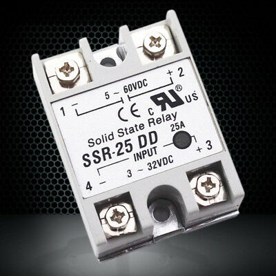 Plastic Metal Solid State Module Relay SSR DC-DC 25A 3-32V DC / 5-60V DC 10A-60A
