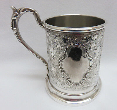 Antique Victorian 1880's Silver Plated Christening MUG ~ Excellent