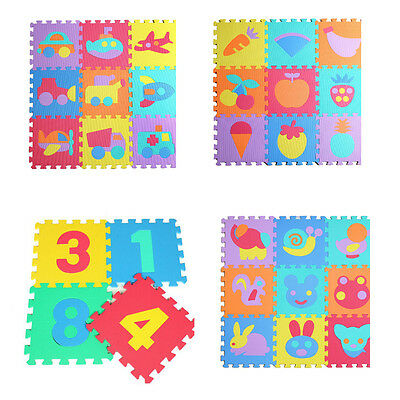 11.8inch EVA Foam Alphabet Letter Numbers Fruit Soft Play Mat Educational Puzzle