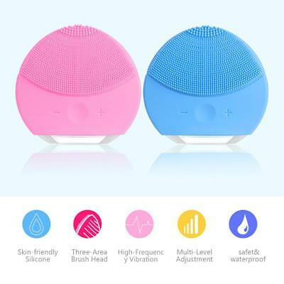 Electric Silicone Wash Face Exfoliating Blackhead Facial Cleansing Brush Tool