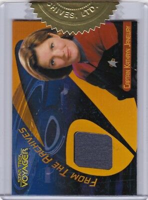 Quotable Star Trek Voyager Case Topper Gray Costume Card of Captain Janeway