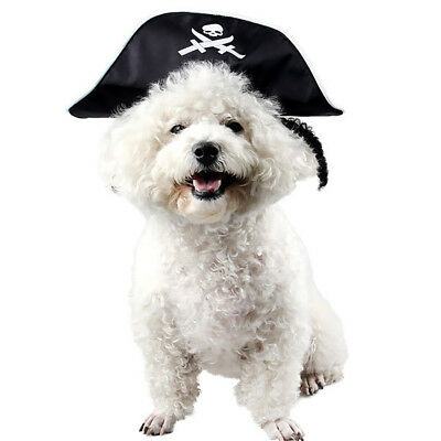 Halloween Small Dog Captain Pirate Cat Hat Pet Dog Puppy Kitty Cosplay Fun